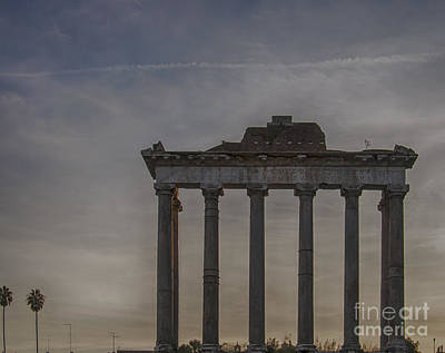 Rome Temple Of Saturn 01 Poster by Antony McAulay