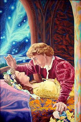 Poster featuring the painting Romeo And Juliet  by Matt Konar