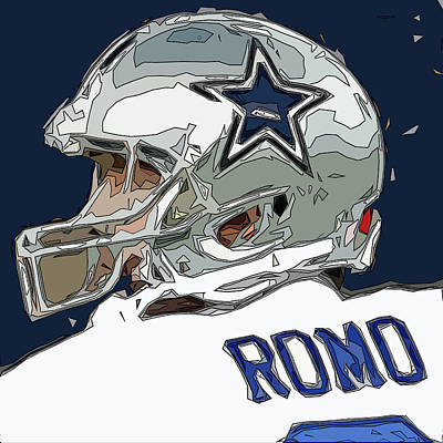 Romo Comic Style Abstract Poster by David G Paul