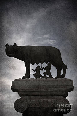 Romulus And Remus - Rome Poster by Rod McLean