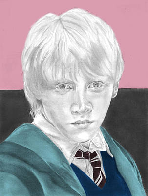 Ron Weasley - Individual Pink Poster by Alexander Gilbert