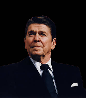 Ronald Reagan  1911 - 2004 Poster by Daniel Hagerman