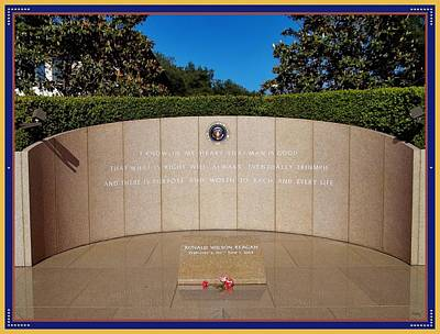 Ronald Reagan Memorial Site Poster