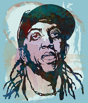 ronald slim williams Stylised Etching Pop Art Poster Poster