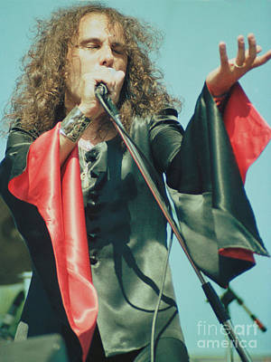 Ronnie James Dio Of Black Sabbath During 1980 Heaven And Hell Tour-2nd New Photo  Poster by Daniel Larsen