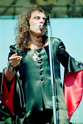 Ronnie James Dio Of Black Sabbath During 1980 Heaven And Hell Tour  Poster by Daniel Larsen