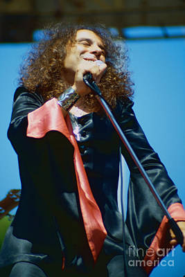 Ronnie James Dio Of Black Sabbath During 1980 Heaven And Hell Tour-new Photo  Poster by Daniel Larsen