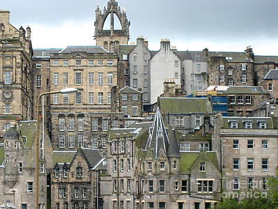 Poster featuring the photograph Roofs Of Edinburgh  by Suzanne Oesterling