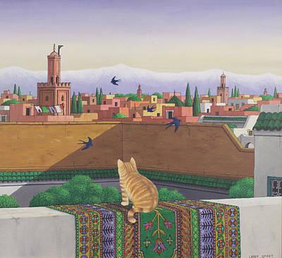 Rooftops In Marrakesh Poster
