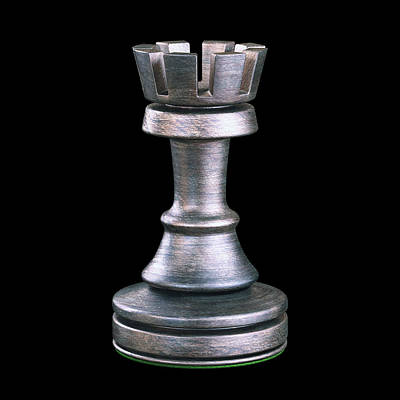 Rook Chess Piece Poster