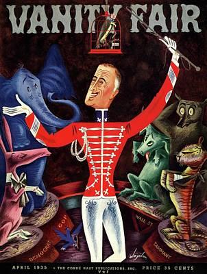 Roosevelt The Ringleader Poster by Constantin Alajalov