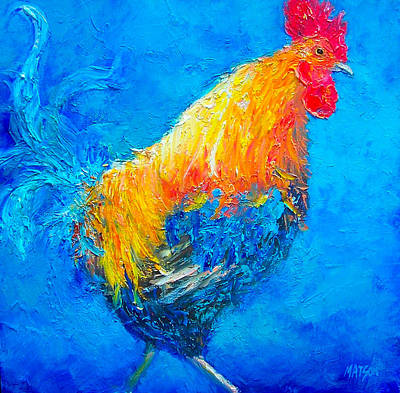 Max The Rooster Poster by Jan Matson