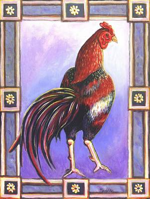 Rooster Prince Poster by Linda Mears
