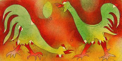 Roosters Poster by Estefan Gargost