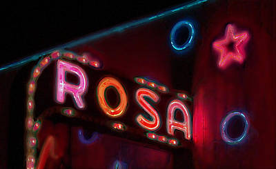 Poster featuring the digital art Rosa by David Blank