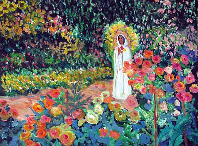 Rosa Mistica In Monet's Garden Poster