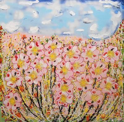 Rosa Ruby Flower Garden Poster