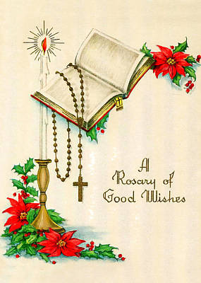 Rosary Good Wishes Poster by Munir Alawi