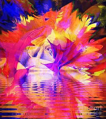 Rose Bloom Sunset Poster by Elizabeth McTaggart