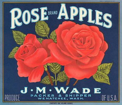 Rose Brad Apples Crate Label Poster