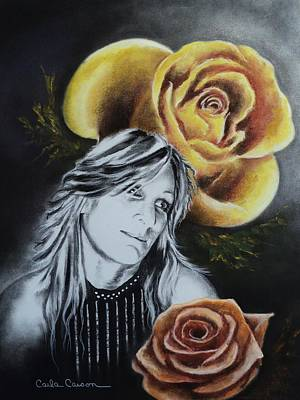 Poster featuring the drawing Rose by Carla Carson