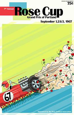 Rose Cup Grand Prix Portland 1967 Poster