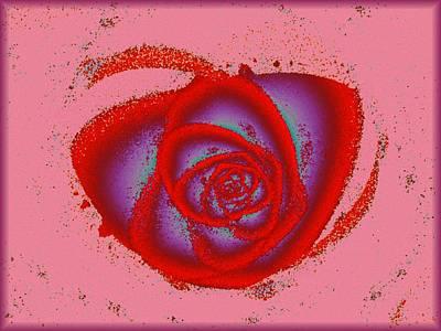 Rose Heart Poster by Anastasiya Malakhova