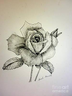 Rose In Monotone Poster