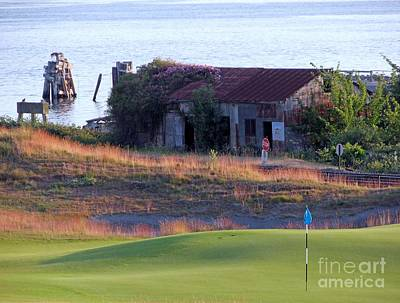 Rose Shack At 17 - Chambers Bay Golf Course Poster by Chris Anderson