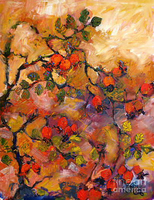 Rosehips Oil Painting Poster