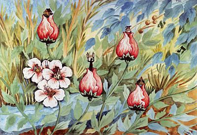 Roses Poster by Michoel Muchnik