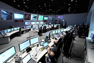Rosetta Mission Control Team Poster by European Space Agency/j. Mai