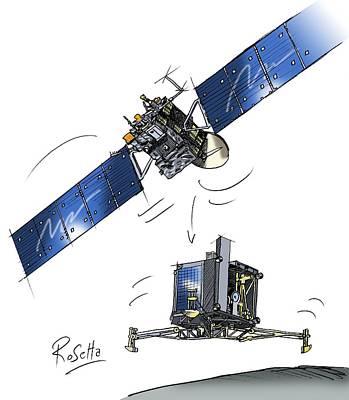 Rosetta Spacecraft Poster by European Space Agency,c. Vijoux