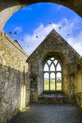 Poster featuring the photograph Ross Errilly Friary - Irish Monastic Ruins by Mark E Tisdale