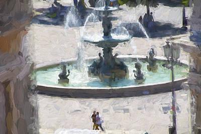 Rossio Square Lisbon Poster