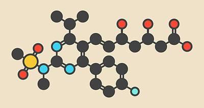 Rosuvastatin Cholesterol Drug Molecule Poster by Molekuul