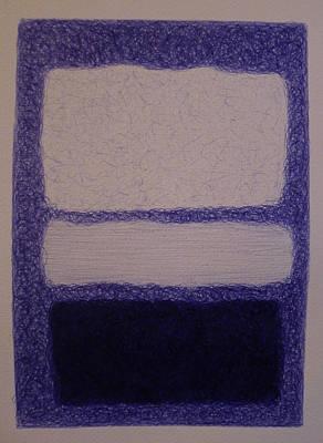 Rothko In Ballpoint Blue No 16 1961 Poster by Ben Johansen