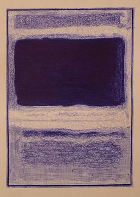 Rothko In Ballpoint Blue No3 No13 1949 Poster by Ben Johansen