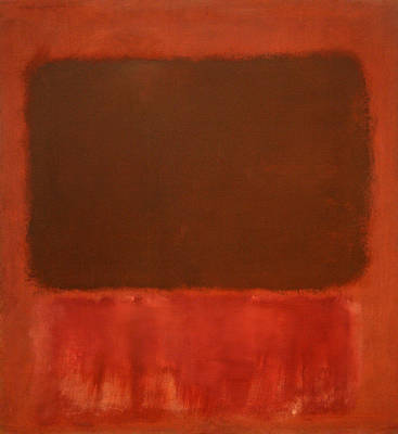 Rothko's Mulberry And Brown Poster
