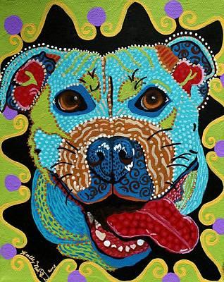 Joyful Pup From Krelly Art Poster