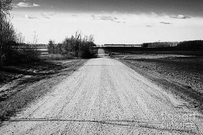 rough rural unpaved gravel road in remote Saskatchewan Canada Poster by Joe Fox