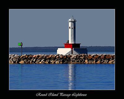Round Island Passage Lighthouse Poster