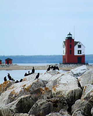 Round Island Passage Lighthouse Poster by Scott Hovind