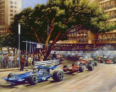 Round Sainte Devote - 1970 Monaco Grand Prix Poster