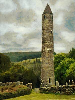 Round Tower At Glendalough Poster by Jeff Kolker