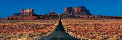 Route 163, Monument Valley Tribal Park Poster by Panoramic Images