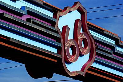 Poster featuring the photograph Route 66 Archway by Daniel Woodrum