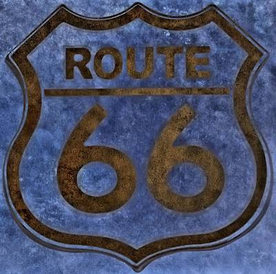 Route 66 Poster by Dan Sproul