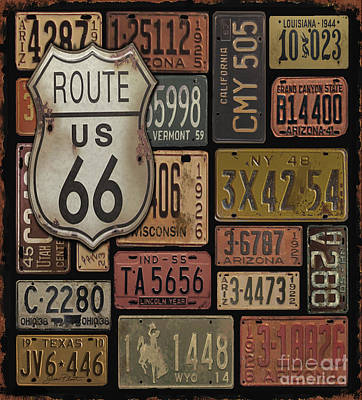 Route 66 Poster by Jean Plout