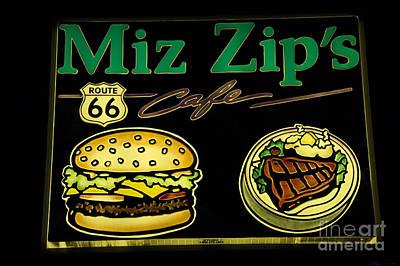 Route 66 Miz Zips Poster
